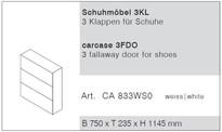Reinhard Crea casa Schuhmöbel / Schuhschrank mit Klappen weiß Modell CASA Bild 2