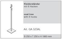 Reinhard Crea Casa Kleiderständer / Modell CASA / Aluminium Bild 2