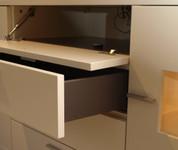 RMW  TV-Wand / Lack creme / Anrichte und Vitrine / Modell LODANO / Ausstellungsstück jetzt kaufen