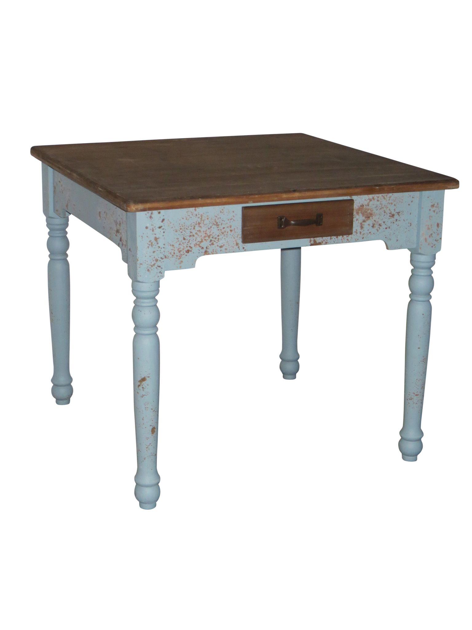 tisch antik aus holz 90x90cm g nstige landhausm bel. Black Bedroom Furniture Sets. Home Design Ideas