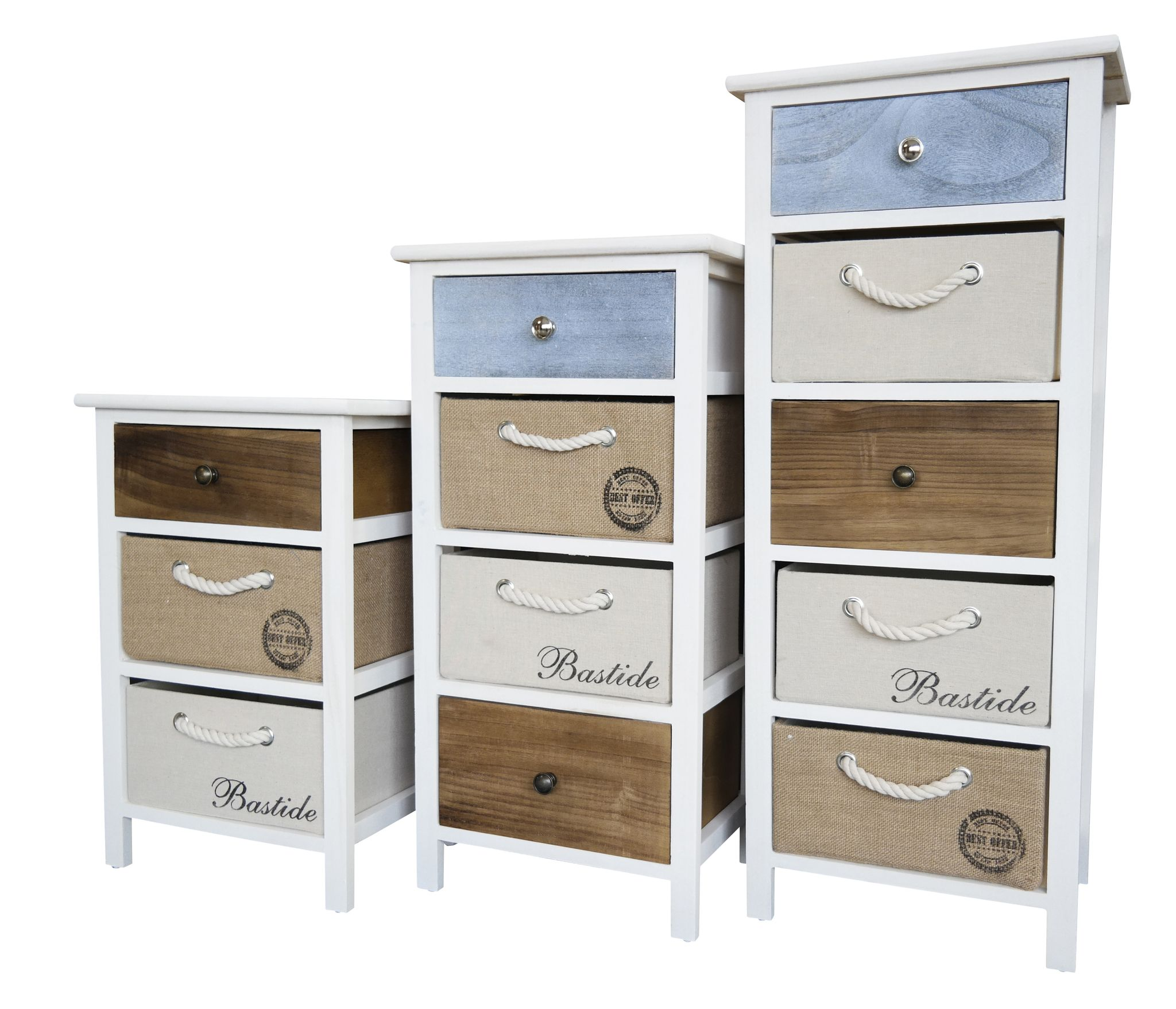 kommode schrank mit schubladen bunt landhaus shabby chic vintage wei k rbe ebay. Black Bedroom Furniture Sets. Home Design Ideas