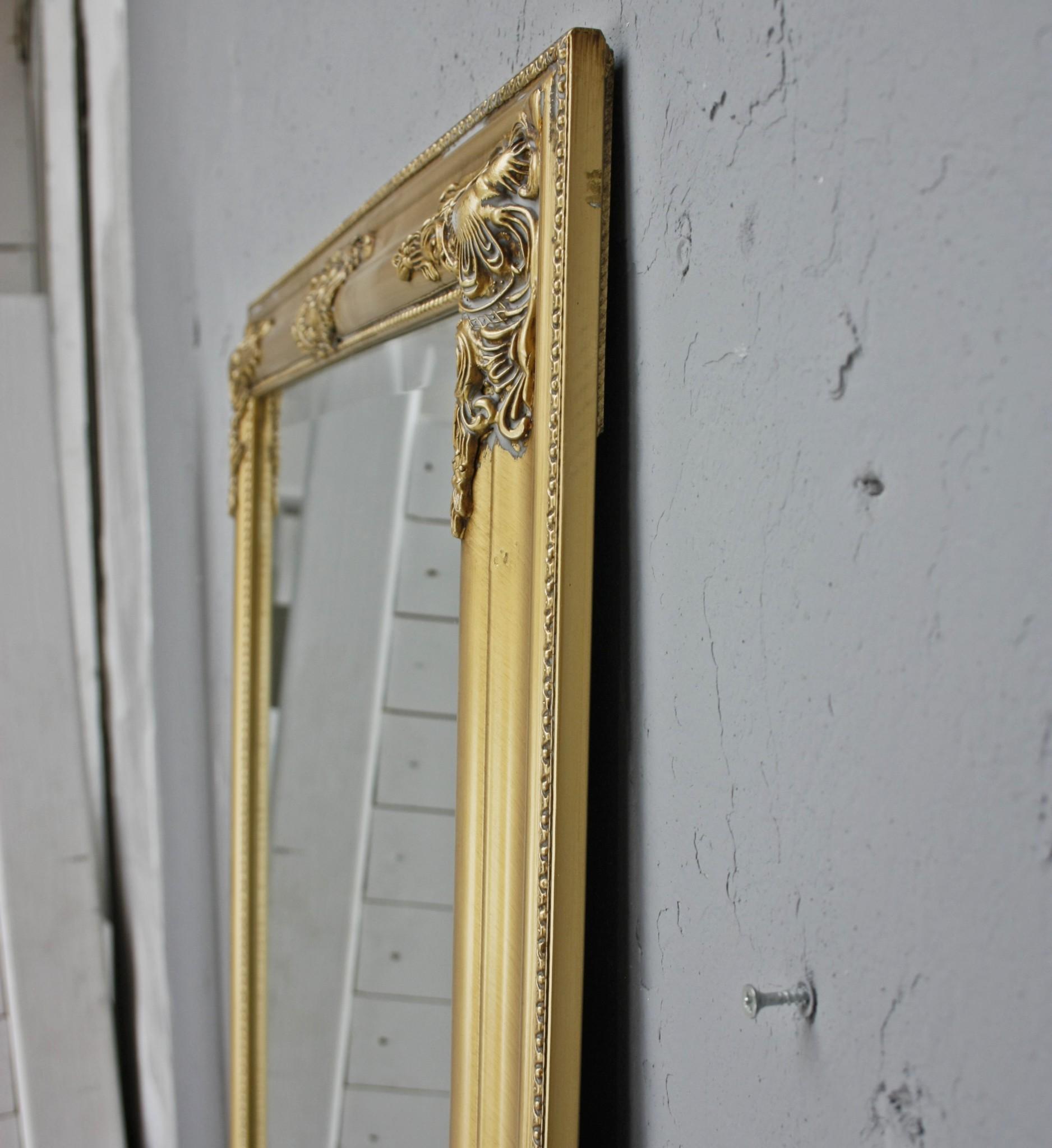 spiegel gold 187cm barock gro elbm bel landhausm bel. Black Bedroom Furniture Sets. Home Design Ideas