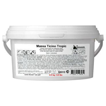 Massa Ticino Tropic weißer Rollfondant 2,5 kg