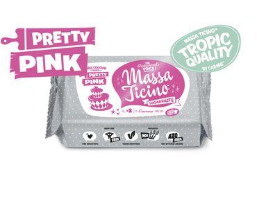 Massa Ticino Tropic Pretty Pink 250 g rosa Rollfondant