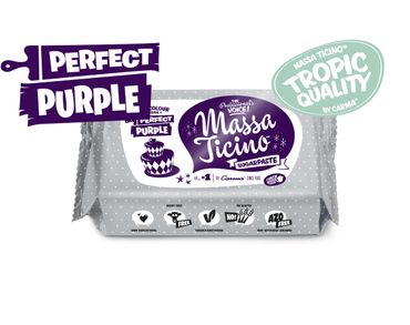 Massa Ticino Tropic Perfect Purple 250 g violetter Rollfondant