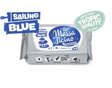 Massa Ticino Tropic Sailing Blue 250 g blauer Rollfondant