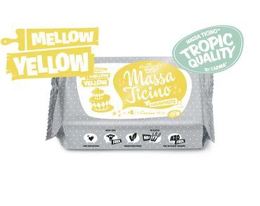 Massa Ticino Tropic Mellow Yellow 250 g gelber Rollfondant