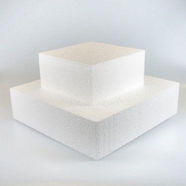 Dummie aus Styropor quadr. 25 cm, 10cm hoch