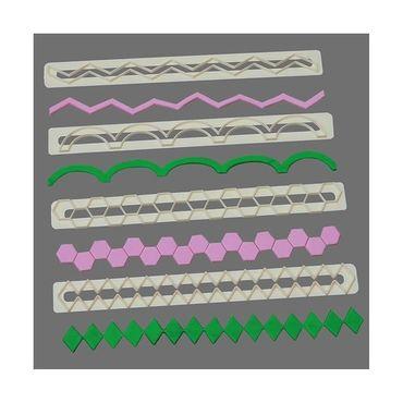 FMM Geometrische Formen Ausstecher Set 17 - 20 – 4 teilig – Geometric Cutter Set #5