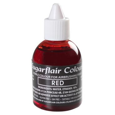 Sugarflair Airbrushfarbe Red - Rot