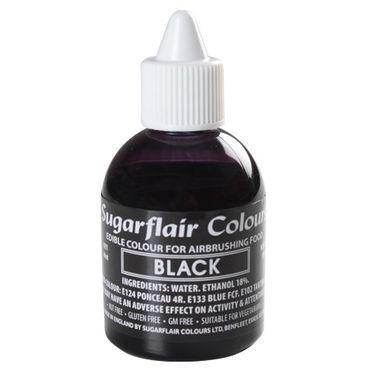 Sugarflair Airbrushfarbe Black - Schwarz