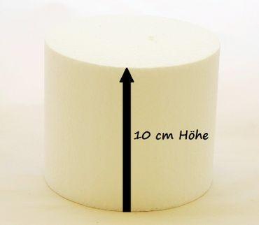 Dummie aus Styropor rund 10 cm, 10 cm hoch – Bild 1