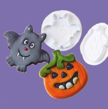 Halloween Ausstecher Set mit Auswerfer und Prägung - 2 teilig, Sonderangebot
