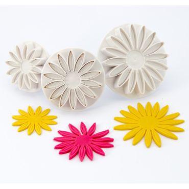 Dekofee Sonnenblumen Ausstecherset mit Auswerfer und Prägung -3 teilig -