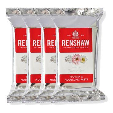 Renshaw Blütenpaste White - Weiß 4 x 250 g