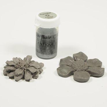 Sugarflair Pastenfarbe Antique Silber  - Altsilber