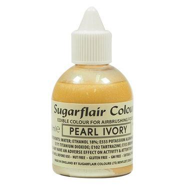 Sugarflair Airbrushfarbe Pearl Ivory - Perl Elfenbein