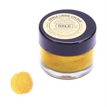 Sugarflair flüssige Lebensmittelfarbe Gold