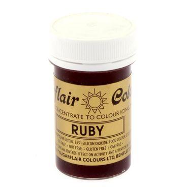 Sugarflair Pastenfarbe Ruby - Rubinrot – Bild 2