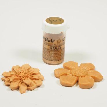 Sugarflair Pastenfarbe Satin Gold