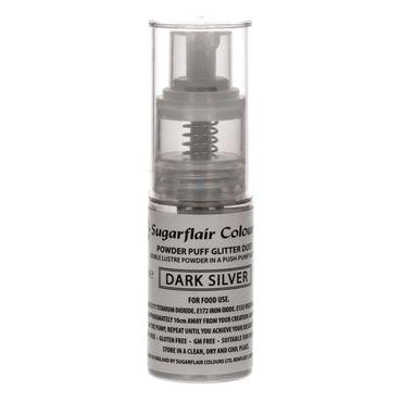 Sugarflair Pump Spray Dark Silver -  Essbares Glitter Spray