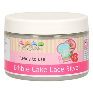 FunCakes Essbare Spitze Silber Ready-to-use 120 g