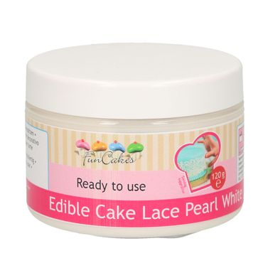 FunCakes Essbare Spitze Perlweiss Ready-to-use 120 g