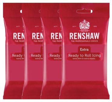 Renshaw Rollfondant Extra Fuchsia - Fuchsiapink 4 x 250 g  – Bild 1