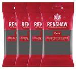 Renshaw Rollfondant Extra Grey - Grau 4 x 250 g  001