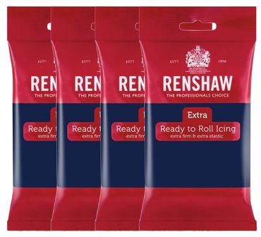 Renshaw Rollfondant Extra Navy Blue - Marineblau 4 x 250 g  – Bild 1
