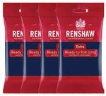 Renshaw Rollfondant Extra Navy Blue - Marineblau 4 x 250 g  001