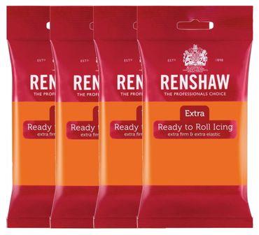 Renshaw Rollfondant Extra Orange 4 x 250 g  – Bild 1