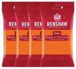 Renshaw Rollfondant Extra Orange 4 x 250 g  001