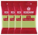 Renshaw Rollfondant Extra Pastel Green - Pastellgrün 4 x 250 g  001
