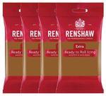 Renshaw Rollfondant Extra Teddybear Brown - Hellbraun 4x 250 g  001