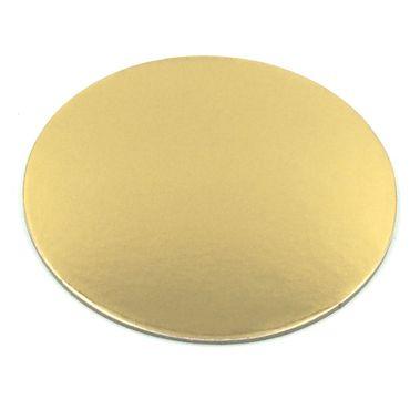 Cake Board rund 30 cm, goldfarben glänzend
