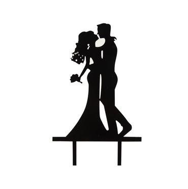Cake Topper Brautpaar küssend, Acryl