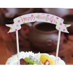 Cake Topper Happy Birthday Banner  001