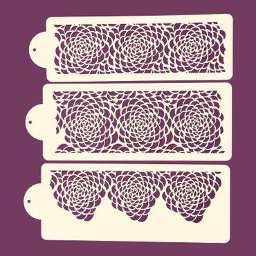 Torten Stencil Schablonen Set A11  G517A