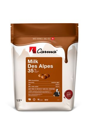 Carma Milk DES ALPES 35 % - Kuvertüre in Tropfen 1,5 kg