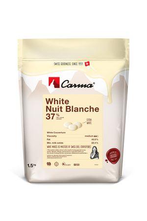 Carma White NUIT BLANCHE 37 % - Kuvertüre in Tropfen 1,5 kg