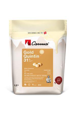Carma Caramel GOLD QUINTIN 31 % - Kuvertüre in Tropfen 1,5 kg