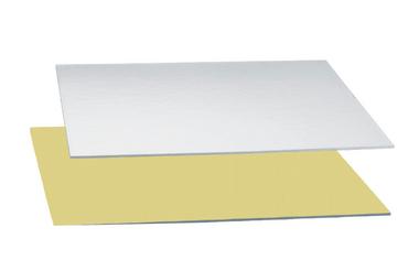 Dünne Tortenplatte 35 x 45 cm gold/silber