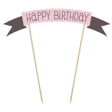 Cake Topper Happy Birthday Banner  – Bild 1