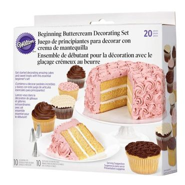 Wilton Tüllen-Set Buttercreme Basis 20-teilig