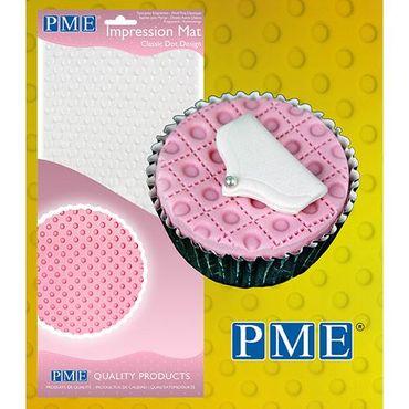 "PME Strukturmatte Prägematte mit Punkten - Impression Mat – Classic Dot Design (150 x 305mm / 6 x 12"") – Bild 1"