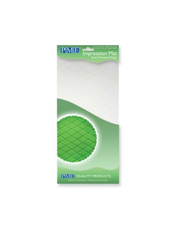 "PME Strukturmatte Prägematte Rautenrelief - Impression Mat – Small Diamond Design (150 x 305mm / 6 x 12"") – Bild 1"