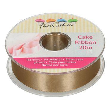 FunCake Tortenband 25 mm x 20 m Gold