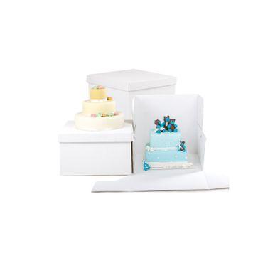 Decora Transportbox weiß, mit Deckel, 26,5 x 26,5 x 25 cm – Bild 1