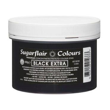 Sugarflair Pastenfarbe Black Extra- Schwarz Extra intensiv 400g Dose